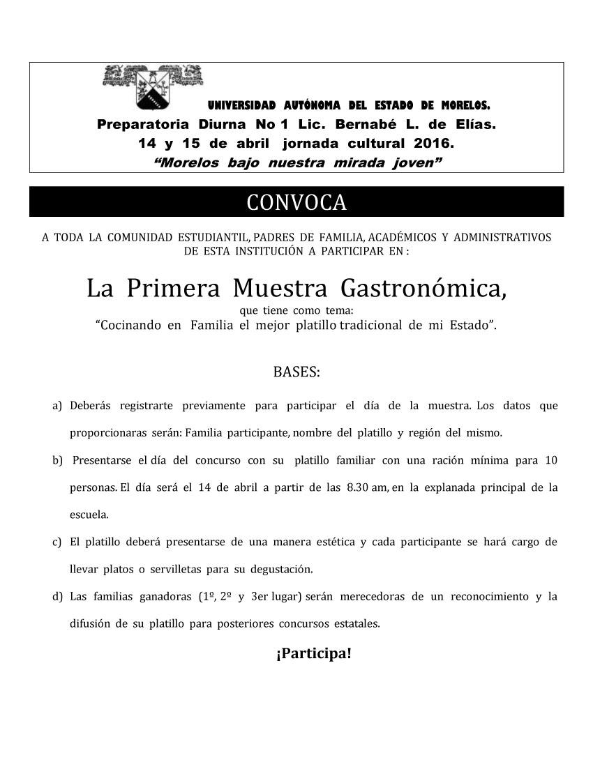 GastroConvocaJornadaCultural