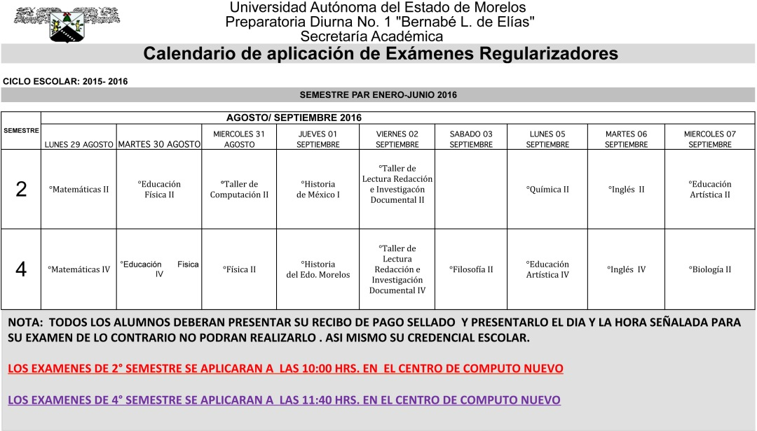 CALENDARIO EXAMENES REGULARIZADORES ENE 2015.xls